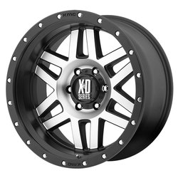 XD Series Wheels XD128 Machete - Machined Face w/Black Reinforcing Ring - 16x8