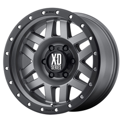 XD Series Wheels XD128 Machete - Matte Gray w/Black Reinforcing Ring Rim