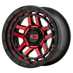 XD Series Wheels XD140 - Gloss Black Machined With Red Tint Rim