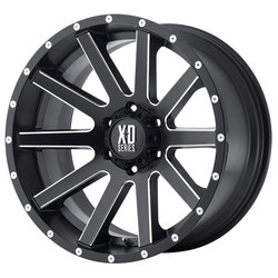 XD Series Wheels XD818 Heist - Satin Black Milled Spokes - 18x8
