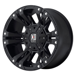 XD Series Wheels XD822 Monster II - Matte Black w/Black Accents