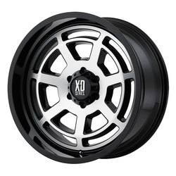 XD Series Wheels XD824 Bones - Gloss Black Machined Face