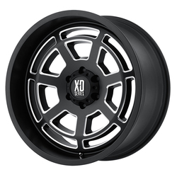 XD Series Wheels XD824 Bones - Satin Black Milled