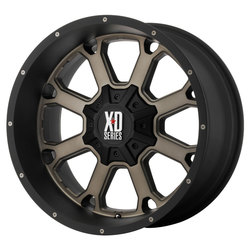 XD Series Wheels XD825 Buck 25 - Matte Black w/Dark Tint Rim