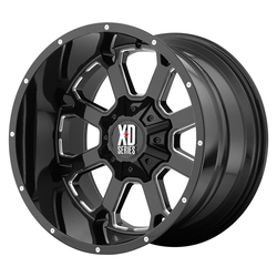 XD Series Wheels XD825 Buck 25 - Gloss Black Milled Rim - 22x10