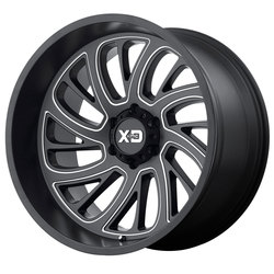 XD Series Wheels XD826 Surge - Satin Black Milled Rim