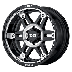 XD Series Wheels XD840 Spy II - Gloss Black Machined