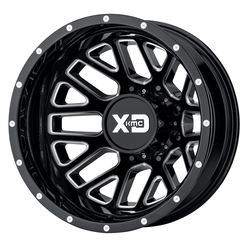 XD Series Wheels XD843 Grenade Dually Rear - Gloss Black Milled