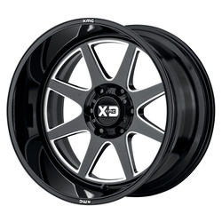 XD Series Wheels XD844 Pike - Gloss Black Milled Rim