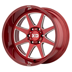 XD Series Wheels XD844 Pike - Brushed Red With Milled Accent