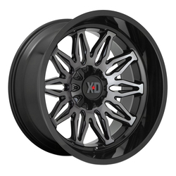 XD Series Wheels XD859 Gunner - Gloss Black Machined With Gray Tint Rim