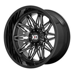 XD Series Wheels XD859 Gunner - Gloss Black Milled Rim