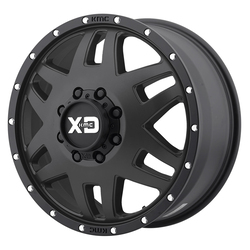 XD Series Wheels Machete Dually - Satin Black With Reinforcing Ring Rim - 20x7.5