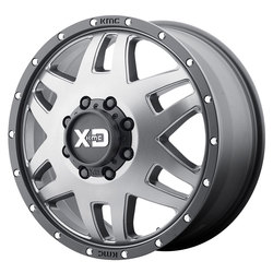 XD Series Wheels XD130 Machete Dually - Matte Gray w/Black Reinforcing Ring Rim - 20x7.5