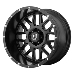 XD Series Wheels XD820 Grenade - Satin Black Rim