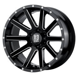 XD Series Wheels XD818 Heist - Gloss Black Milled Spokes Rim