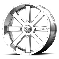 MSA Offroad Wheels M34 Flash - Chrome Rim - 18x7