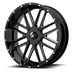 MSA Offroad Wheels M35 Bandit - Gloss Black Milled - 22x7