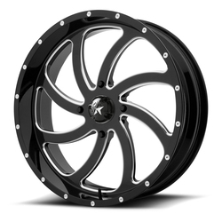 MSA Offroad Wheels M36 Switch - Gloss Black Milled Rim - 24x7