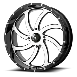 MSA Offroad Wheels M36 Switch - Machined Gloss Black Rim - 24x7