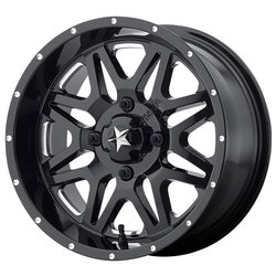MSA Offroad Wheels MSA Offroad Wheels M26 Vibe - Milled Gloss Black - 14x7