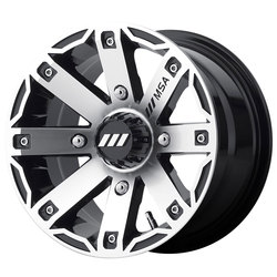 MSA Offroad Wheels MSA Offroad Wheels M27 Rage - Machined Gloss Black - 14x7