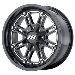 MSA Offroad Wheels M30 Throttle - Machined Gloss Black - 14x7