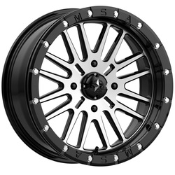 MSA Offroad Wheels M37 Brute Beadlock - Gloss Black Machined Rim - 18x7