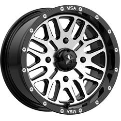 MSA Offroad Wheels M38 Brute - Gloss Black Machined - 22x7