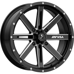 MSA Offroad Wheels M41 Boxer - Gloss Black Milled Rim - 18x7