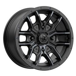 MSA Offroad Wheels M43 Fang - Satin Black With Titanium Tint Rim