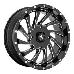 MSA Offroad Wheels M46 Blade - Gloss Black Milled Rim - 18x7