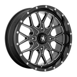 MSA Offroad Wheels MA45 - Gloss Black Milled Rim - 18x7