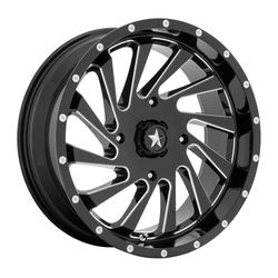 MSA Offroad Wheels MA46 - Gloss Black Milled Rim - 18x7