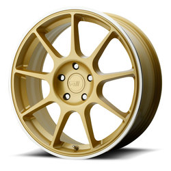 Motegi MR138 - Gold w/Machined Lip