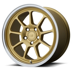 Motegi Wheels MR135 - Gold Center w/Machined Lip Rim - 17x8.5