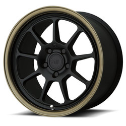 Motegi Wheels MR135 - Matte Black Center w/Bronze Lip Rim