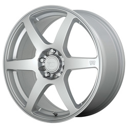 Motegi Wheels MR143 CS6 - Hyper Silver Rim - 15x6.5