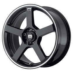 Motegi Wheels MR116 - Gloss Black w/Machined Flange Rim - 15x6.5