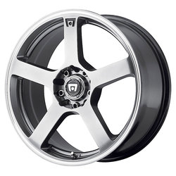 Motegi Wheels MR116 - Dark Silver w/Machined Flange Rim - 15x6.5