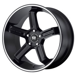 Motegi MR122 - Satin Black w/Machined Stripe