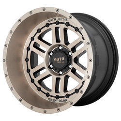 Moto Metal Wheels MO800 DEEP SIX - Satin Black Bronze Tint Rim - 20x12