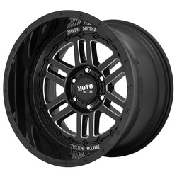 Moto Metal Wheels MO800 DEEP SIX - Gloss Black Milled Rim