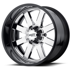 Moto Metal Wheels MO200 - Chrome Center w/Gloss Black Milled Lip - 22x12