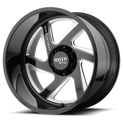 Moto Metal Wheels MO400 - Gloss Black Milled - 22x14