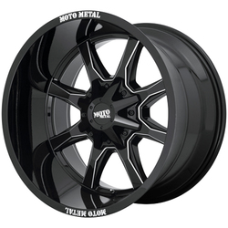 Moto Metal Wheels MO970 - Gloss Black / Milled Spoke Rim - 18x9