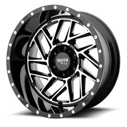 Moto Metal Wheels MO985 Breakout - Gloss Black Machined Rim - 22x10