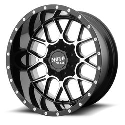 Moto Metal Wheels MO986 Siege - Gloss Black Machined - 22x12