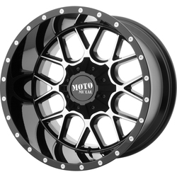Moto Metal Wheels MO986 Siege - Gloss Black Machined Rim - 24x14