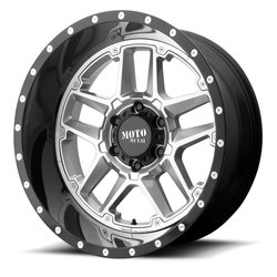 Moto Metal Wheels MO987 Sentry - Gloss Silver Center With Gloss Black Lip Rim - 20x12